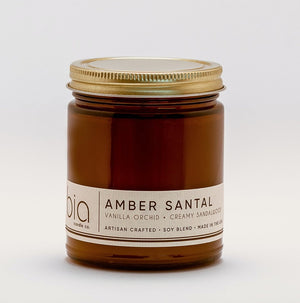 AMBER SANTAL Classic Candle 50hour Burn - Molly's! A Chic and Unique Boutique