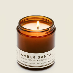 AMBER SANTAL Petite Candle 20hr Burn - Molly's! A Chic and Unique Boutique