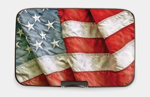 AMERICAN FLAG-ARMORED WALLET - Molly's! A Chic and Unique Boutique
