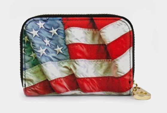 AMERICAN FLAG-ZIPPER WALLET - Molly's! A Chic and Unique Boutique
