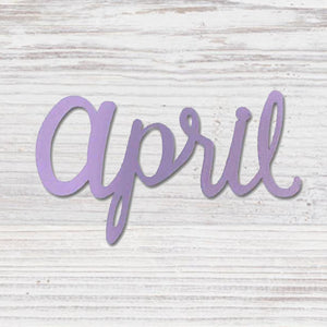 """APRIL"" MAGNET PURPLE - Molly's! A Chic and Unique Boutique"