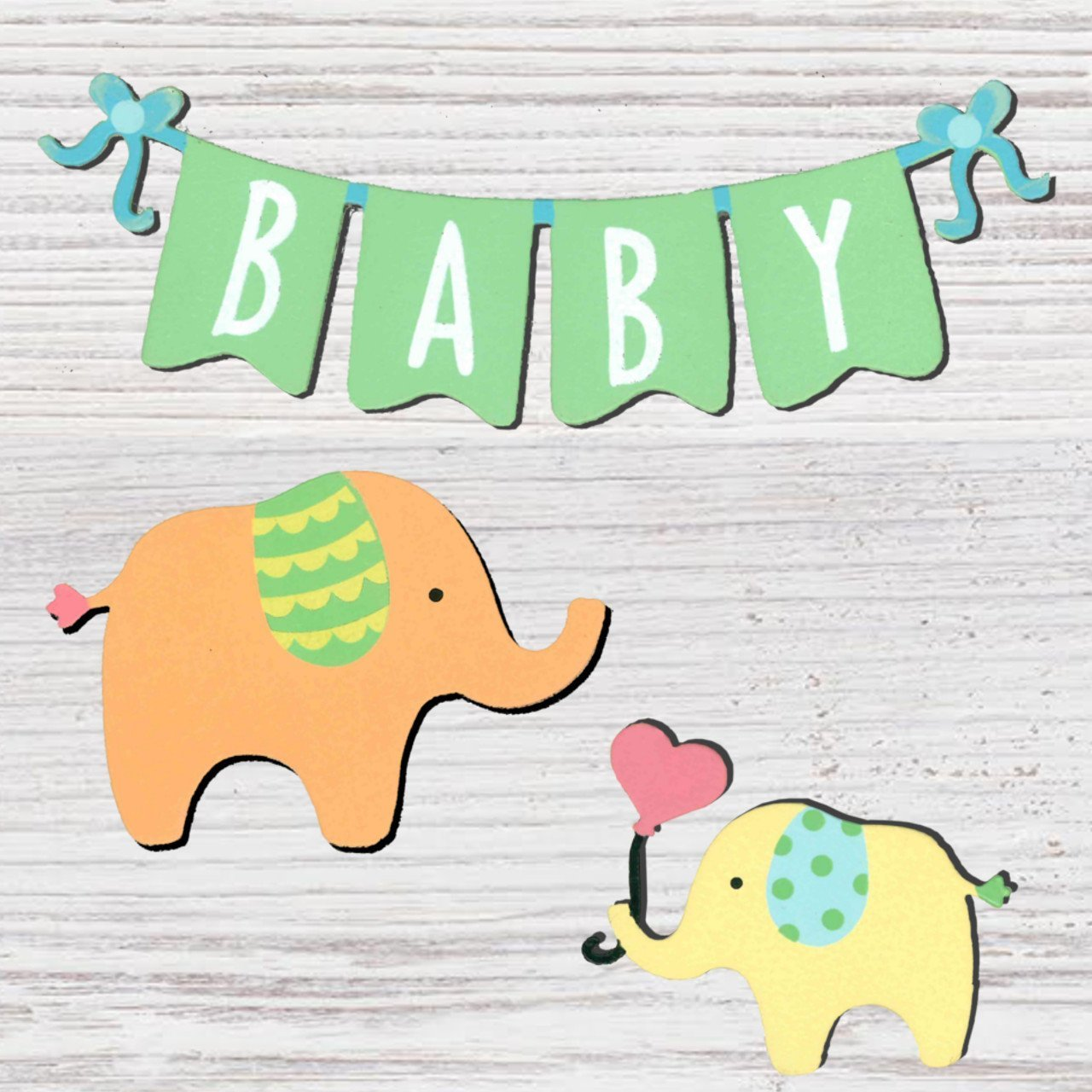BABY BANNER W/ ELEPH - Molly's! A Chic and Unique Boutique