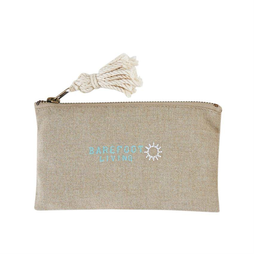 """Barefoot living"" Beach Pouch - Molly's! A Chic and Unique Boutique"