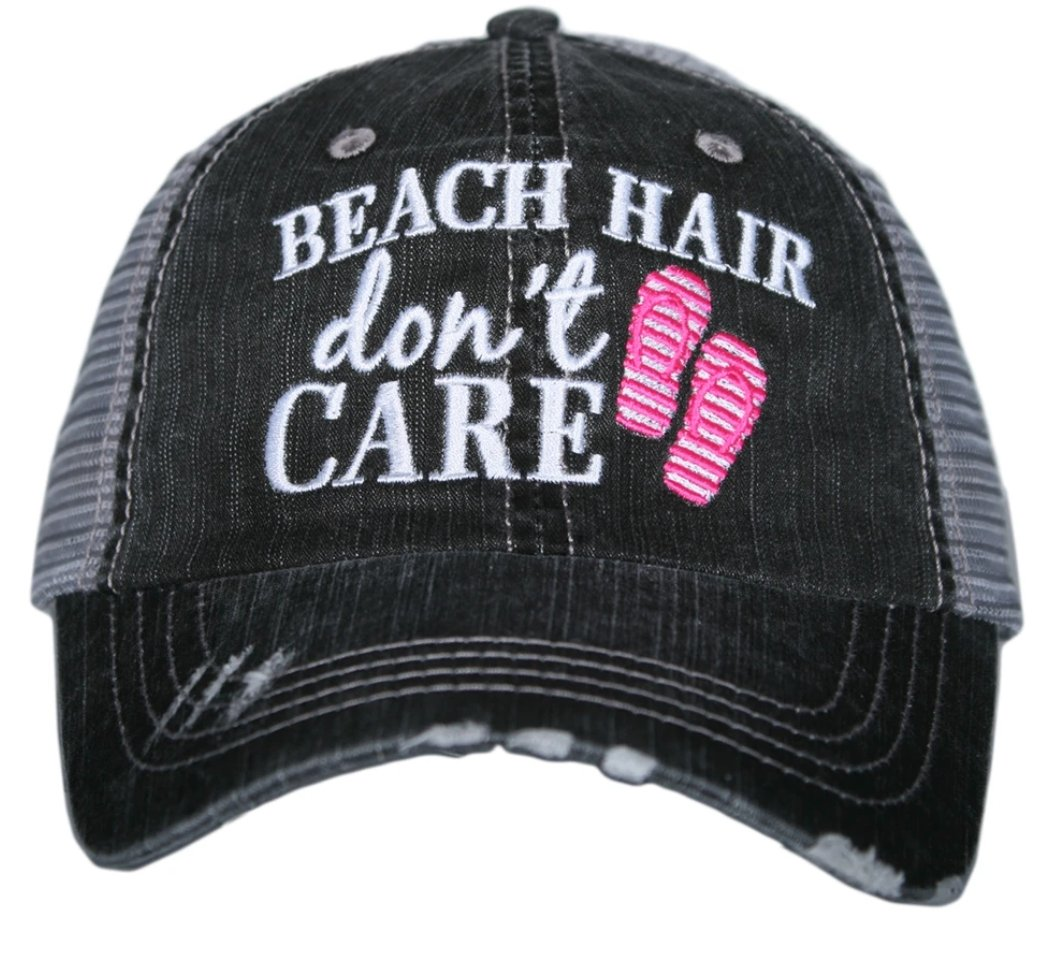 BEACH HAIR DON'T CARE FLIP FLOPS HAT - Molly's! A Chic and Unique Boutique