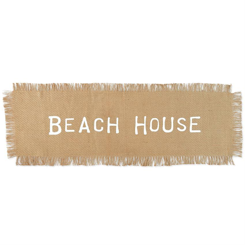"""Beach House"" Jute Table Runner - Molly's! A Chic and Unique Boutique"