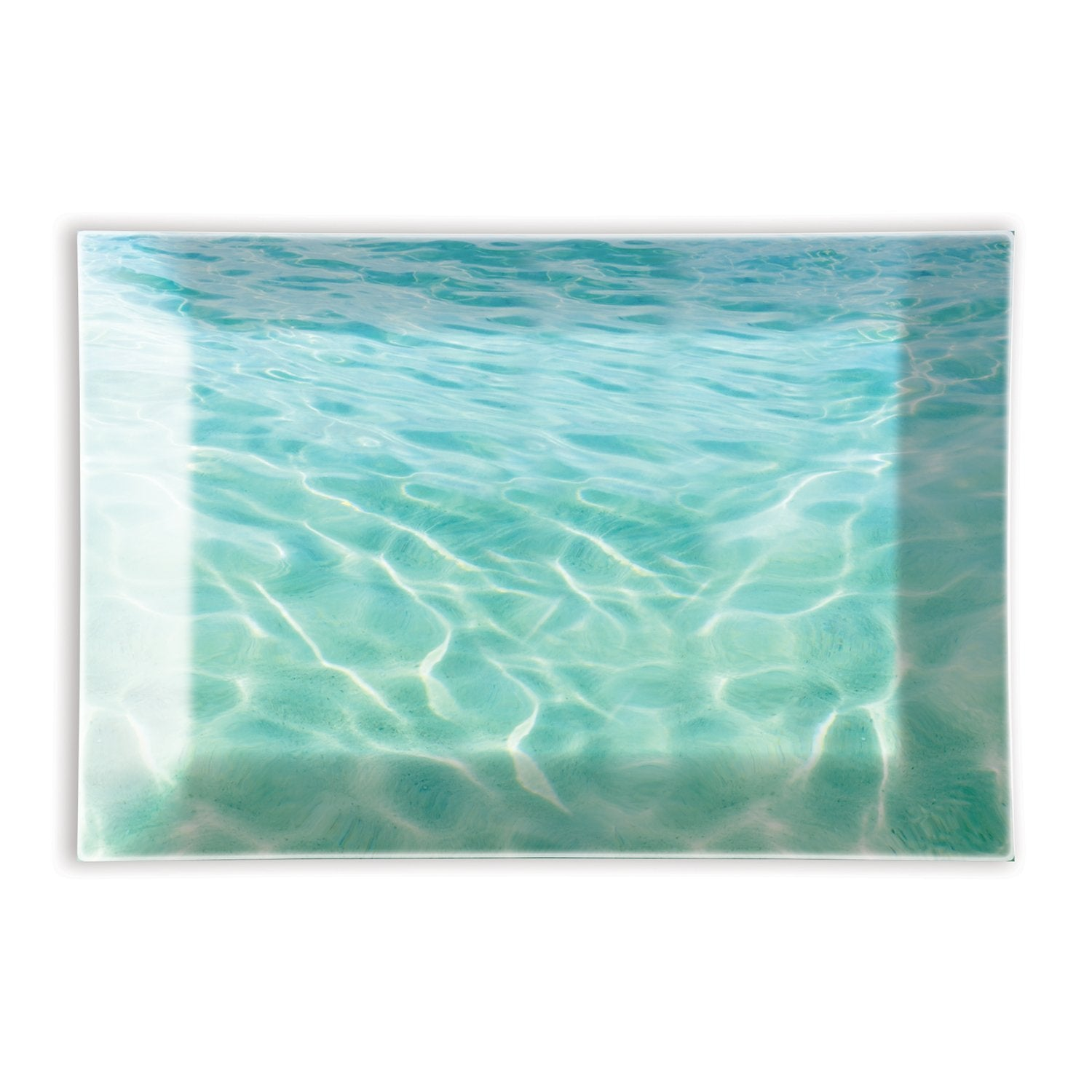 BEACH RECTANGULAR GLASS SOAP DISH GSDR189 - Molly's! A Chic and Unique Boutique