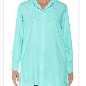 BEACH SHIRT AQUA - Molly's! A Chic and Unique Boutique