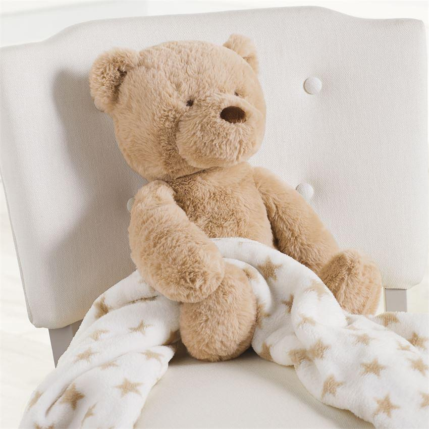 BEAR PLUSH WITH BLANKET - Molly's! A Chic and Unique Boutique