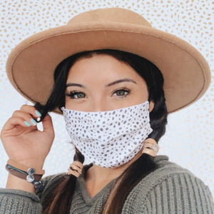 Black & White Speckled Face Mask - Molly's! A Chic and Unique Boutique