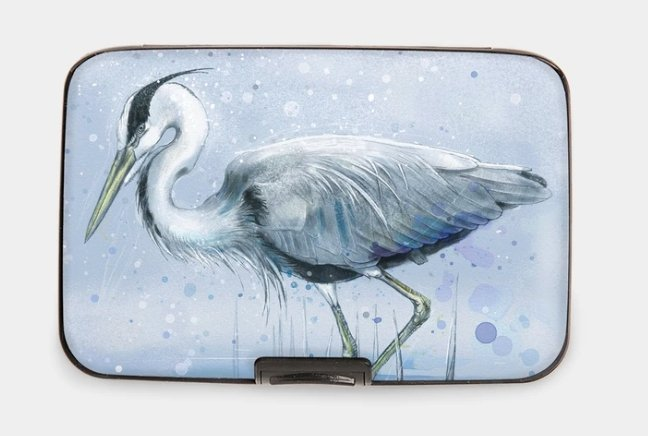 BLUE HERON-ARMORED WALLET - Molly's! A Chic and Unique Boutique