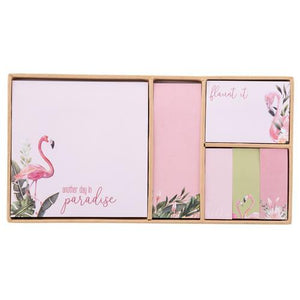 BOXED STICKY NOTE SET FLAMINGO (S20) - Molly's! A Chic and Unique Boutique