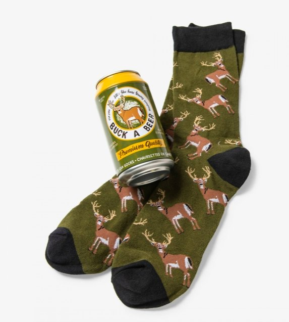 BUCK A BEER MEN'S BEER CAN SOCKS - Molly's! A Chic and Unique Boutique