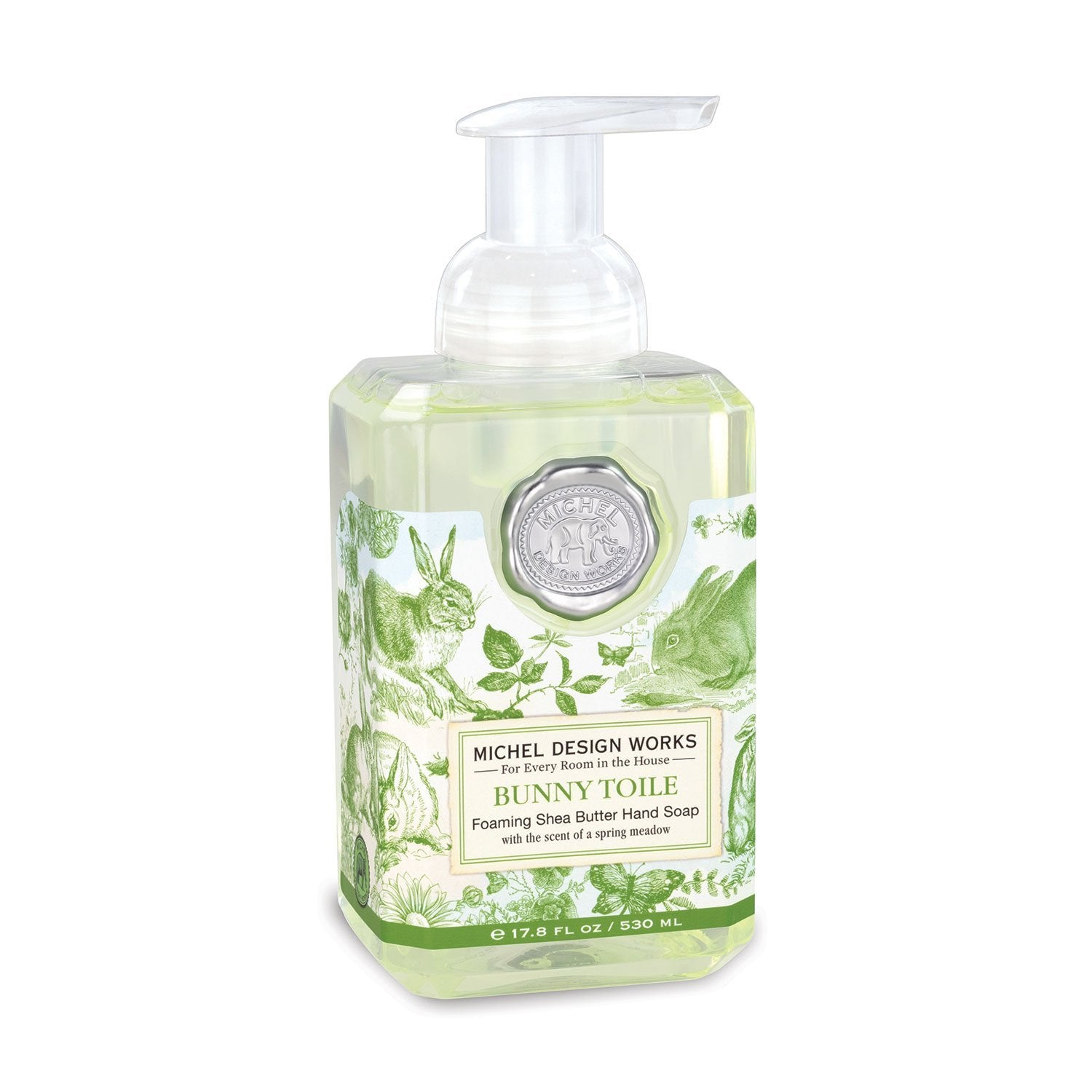 BUNNY TOILE FOAMING SOAP FOA338 - Molly's! A Chic and Unique Boutique