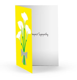 CALLA LILIES SYMPATHY CARD - Molly's! A Chic and Unique Boutique
