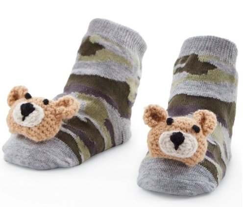 Camp Bear Rattle Toe Socks - Molly's! A Chic and Unique Boutique