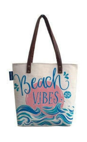 CANVAS TOTE BAG: BEACH VIBES - Molly's! A Chic and Unique Boutique