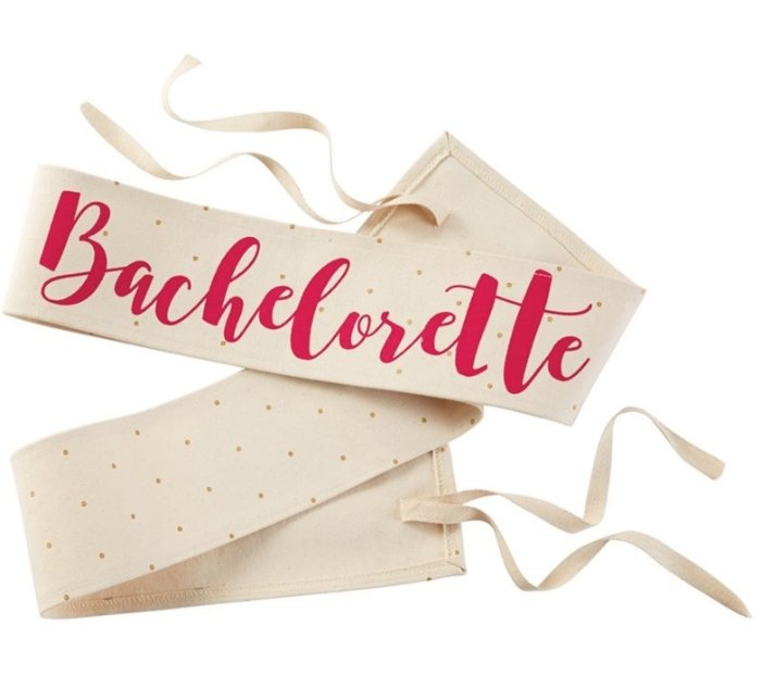 Canvas Wedding Sash (Bachelorette) - Molly's! A Chic and Unique Boutique