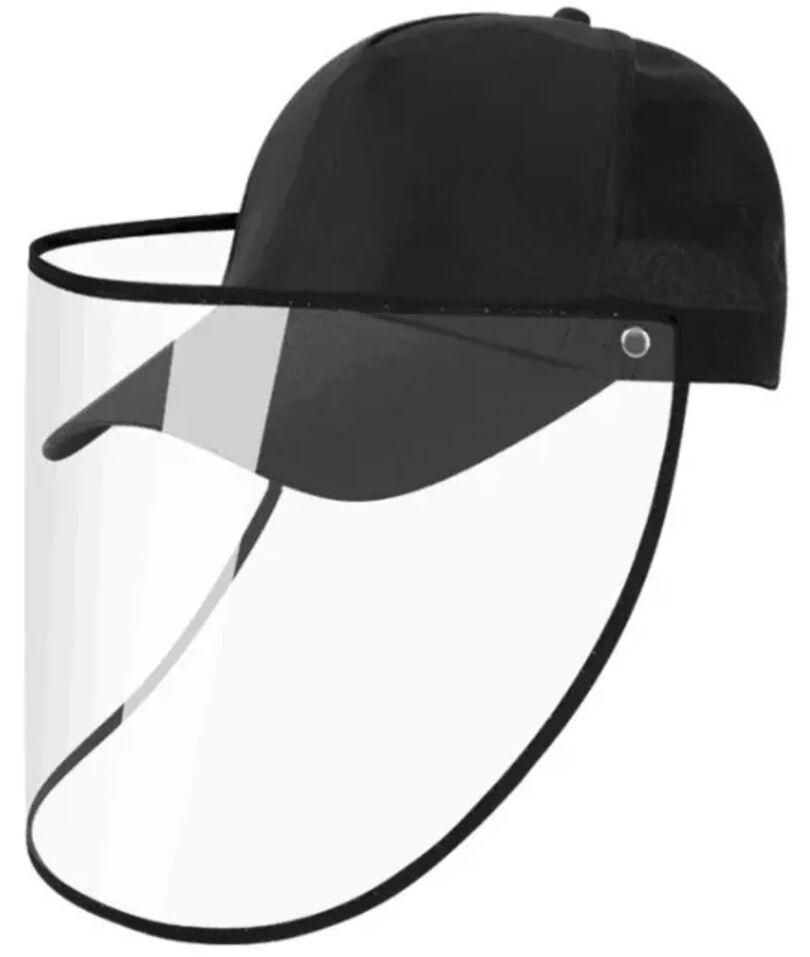 CAP WITH FACE SHIELD -BLACK-SSH (Pre-Order) approx. 5/30 - Molly's! A Chic and Unique Boutique