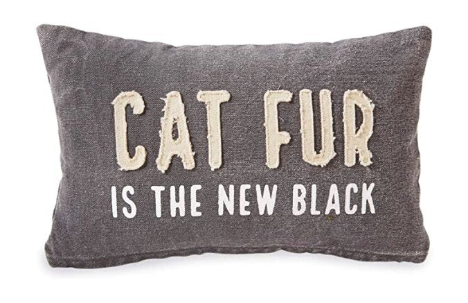 Cat Fur Washed Canvas Pillow - Molly's! A Chic and Unique Boutique