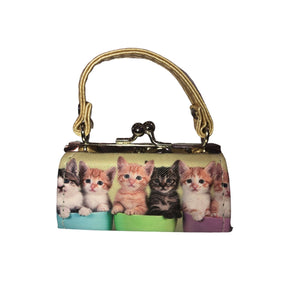 CATS COIN/LIPSTICK MINI PURSE (Many Patterns Available) - Molly's! A Chic and Unique Boutique