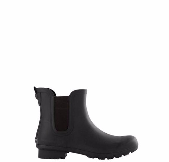 Chelsea Matte Black Rain Boot - Molly's! A Chic and Unique Boutique