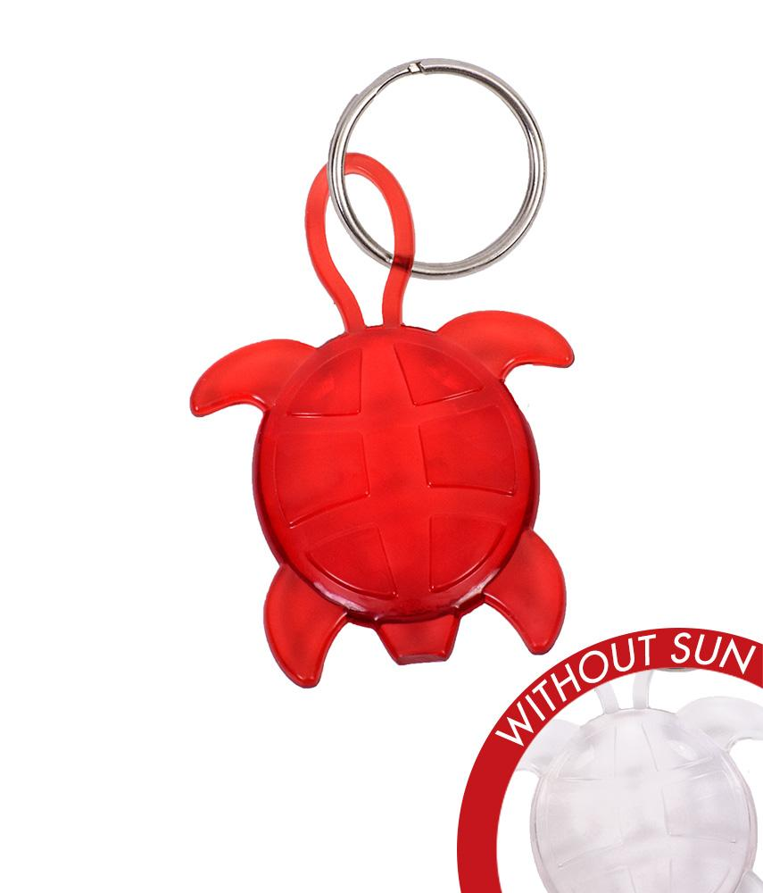 CLEAR TURTLE KEY CHAIN:  Changes Color in the Sun - Molly's! A Chic and Unique Boutique