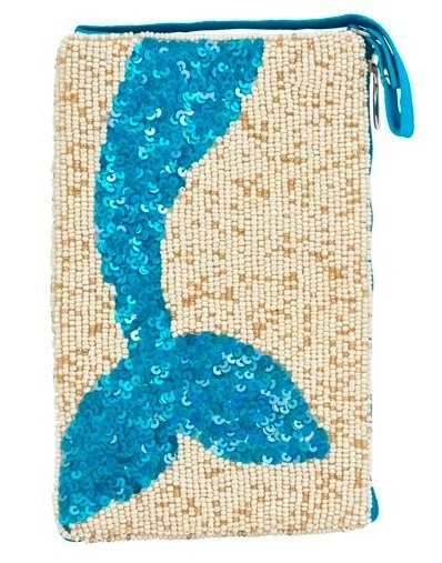 CLUB BAG MERMAID TAIL AZURE - Molly's! A Chic and Unique Boutique