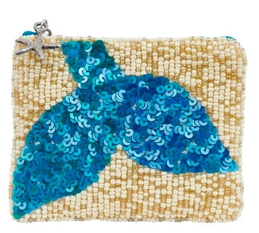 COIN PURSE MERMAID TAIL AZURE - Molly's! A Chic and Unique Boutique