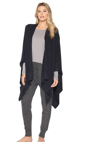 COZY CHIC  WEEKEND WRAP- BLACK/One size fits all - Molly's! A Chic and Unique Boutique