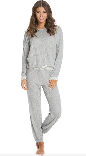 CRINKLE LOUNGE SET - GRAY - Molly's! A Chic and Unique Boutique