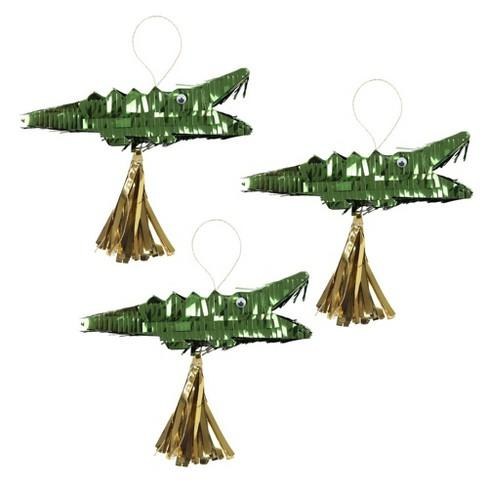 CROCODILE PINATA PARTY FAVOR:  Pack of 3 - Molly's! A Chic and Unique Boutique