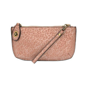 CROSSBODY WRISTLET CLUTCH- PINK TONAL LEOPARD - Molly's! A Chic and Unique Boutique