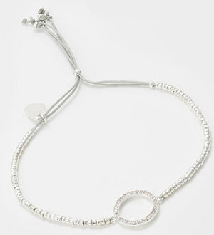 CZ CIRCLE LOUISE BRACELET - SILVER PLATED EB3358C - Molly's! A Chic and Unique Boutique