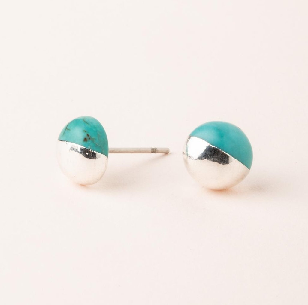 DIPPED STONE STUD - Molly's! A Chic and Unique Boutique