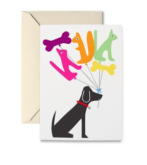 DOG & BALLOONS CARD - Molly's! A Chic and Unique Boutique