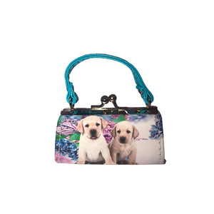DOG COIN/LIPSTICK MINI PURSE (MULTIPLE COLORS AVAILABLE) - Molly's! A Chic and Unique Boutique