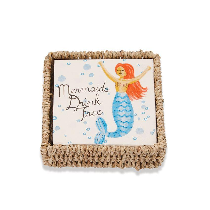Drink Mermaid Napkin Set - Molly's! A Chic and Unique Boutique