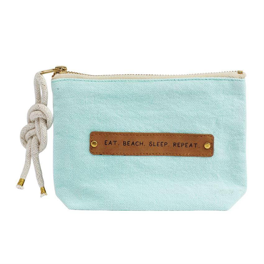 Eat Beach Sleep Repeat Leather Patch Pouch - Molly's! A Chic and Unique Boutique