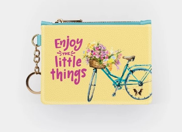 ENJOY LITTLE THINGS-KEYCHAIN WALLET - Molly's! A Chic and Unique Boutique