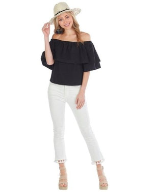 Ezra Off The Shoulder Top (size M and L) - Molly's! A Chic and Unique Boutique