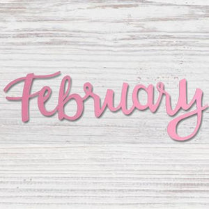 """FEBRUARY"" MAGNET PINK - Molly's! A Chic and Unique Boutique"