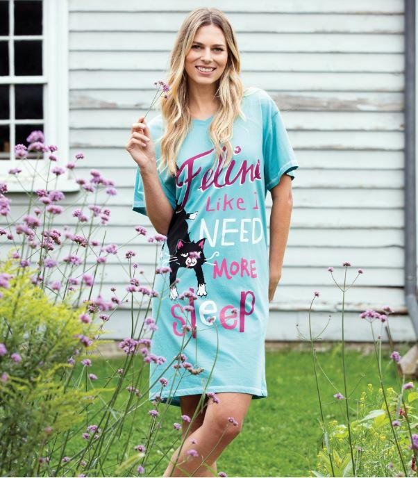 FELINE LIKE I NEED MORE SLEEP WOMEN'S SLEEP SHIRT - Molly's! A Chic and Unique Boutique