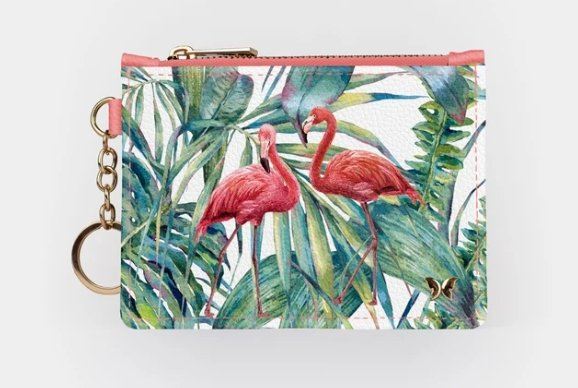 FLAMINGO-KEYCHAIN WALLET - Molly's! A Chic and Unique Boutique