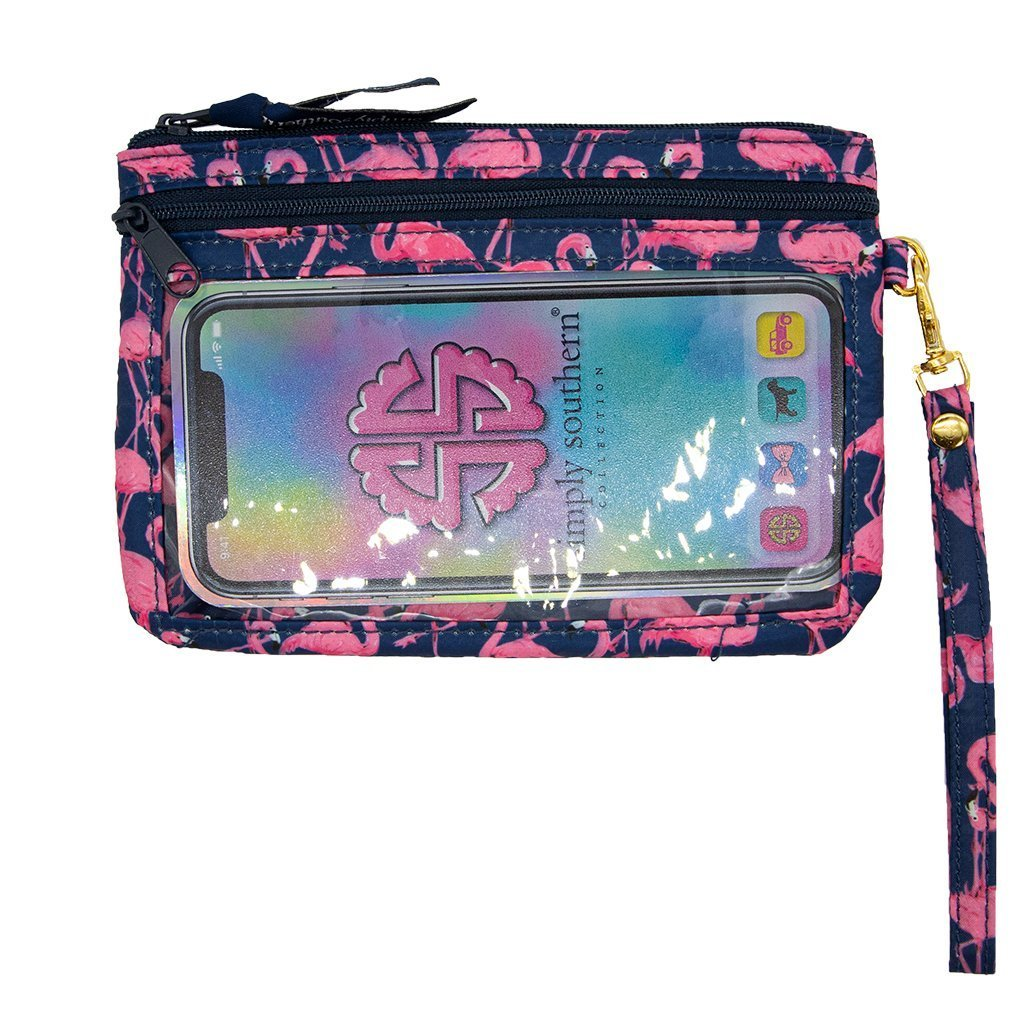 Flamingo Phone Wristlet - Molly's! A Chic and Unique Boutique