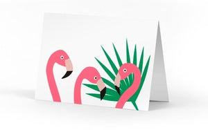 FLAMINGO SINGLE NOTE CARD - Molly's! A Chic and Unique Boutique