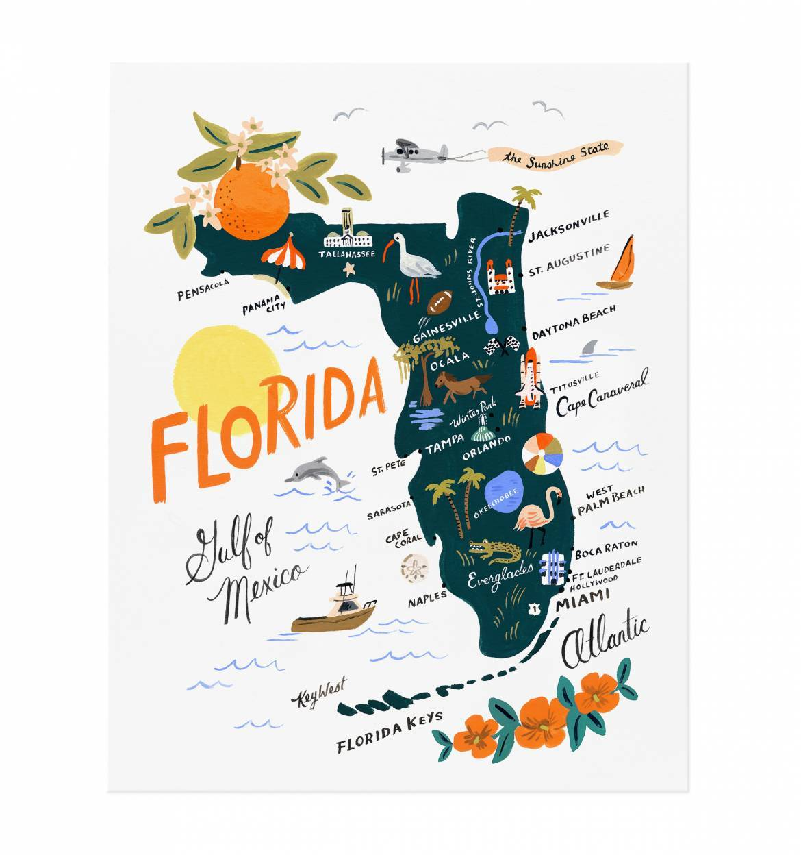 FLORIDA ART PRINT 8x10 - Molly's! A Chic and Unique Boutique