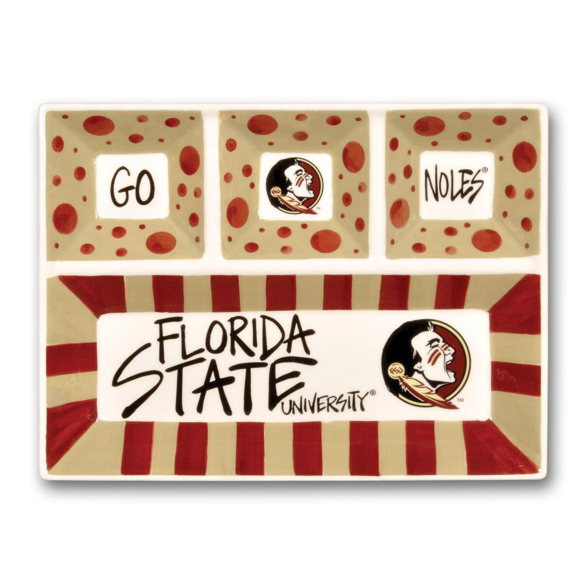 Florida Ceramic 4 Section Tailgating Serving Platter - Molly's! A Chic and Unique Boutique