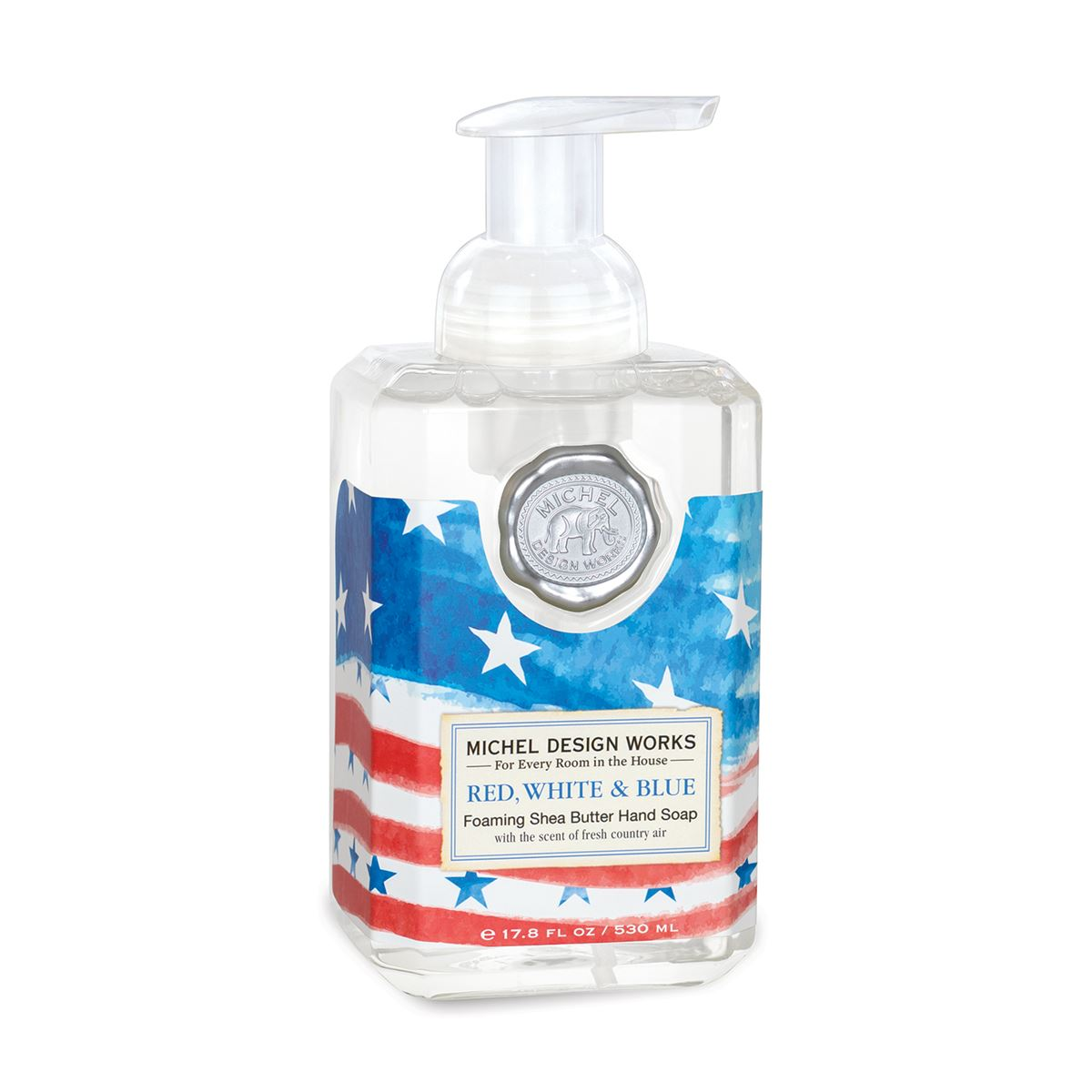 Red White Blue Foaming Soap