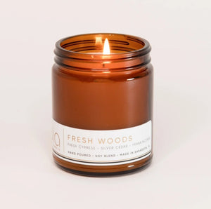 FRESH WOODS Classic Candle 50hour Burn - Molly's! A Chic and Unique Boutique