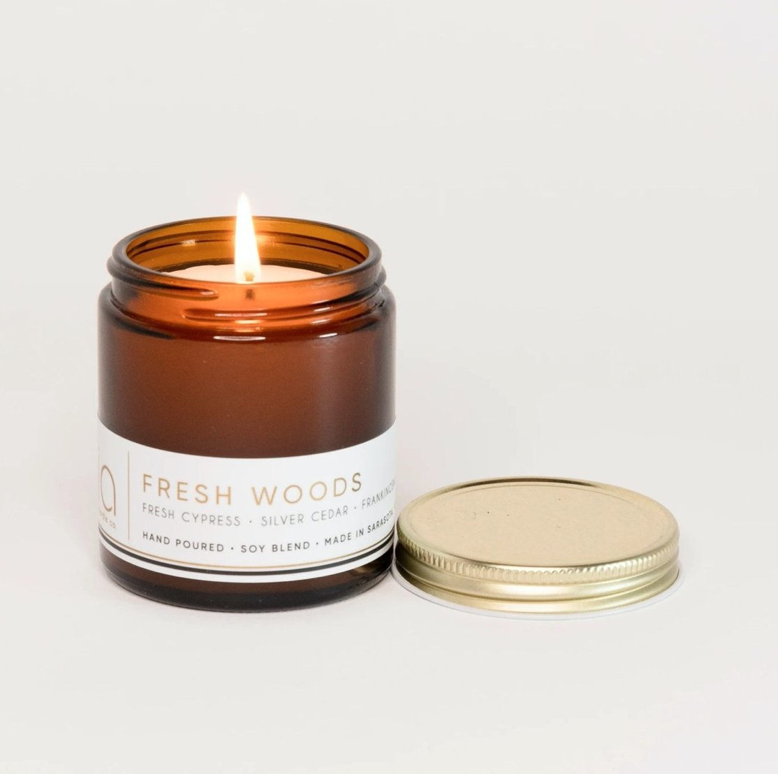 FRESH WOODS Petite Candle 20hr Burn - Molly's! A Chic and Unique Boutique